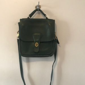 Green leather Coach bag